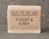 Yogurt & Honey Soap - All Natural Soap, Handmade Soap, Cold Process Soap, Unscented Soap, Vegan Soap