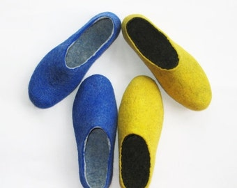 ON SALE 15% OFF Felted Slippers Set Womens Wool Slippers Custom Color Soft Super Comfort Case Cold Feet