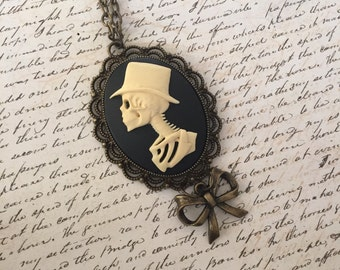 Lord Skeleton - long cameo necklace
