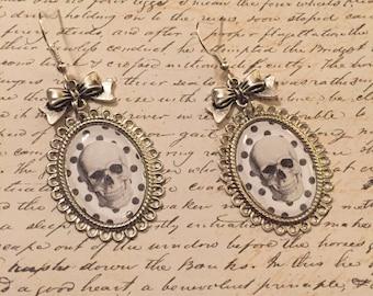 Dots and Skulls - earrings