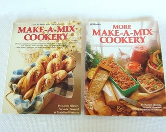 Set of 2 Vintage HP Books Make A Mix AND More Make A Mix Cookery Master Mix Cookbooks circa 1978 and 1980 CB343