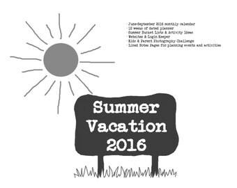 Summer Planner 2016