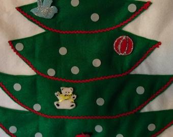 Advent calendar, Christmas tree, Advent tree, Children's educational tool, Christmas countdown, Felt advent calendar