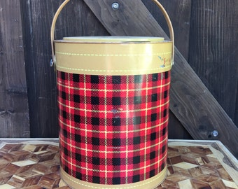 The Skotch Kooler 1950s Plaid Ice Chest