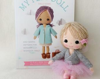 PDF Knitted Ballerina Wrap Cardigan Pattern for Gingermelon My Felt Doll