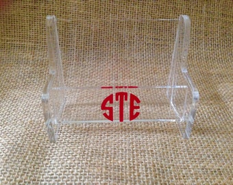 Personalized Acrylic Business Card Holder