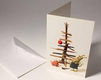 DIY CHRISTMAS TREE funny holiday card