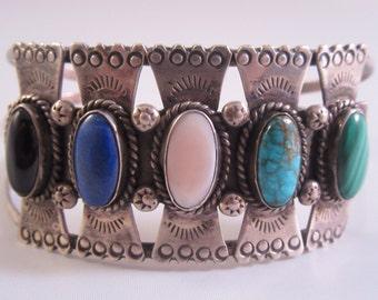 1970s Native American Multistone Bracelet