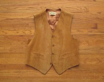vintage LL Bean suede vest