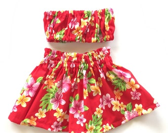 Baby/Toddler Hula Skirt Outfit