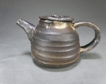Soda Fired, Wheel Thrown Stoneware Teapot. Holds 20oz.