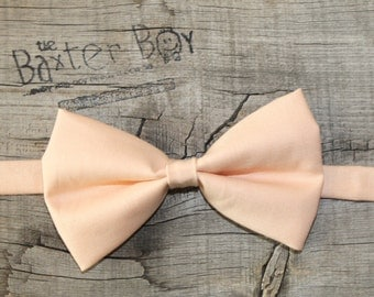 Solid Iced Peach Bow Tie for little boys - photo prop, ring bearer, wedding
