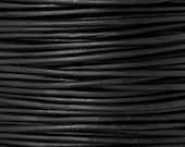 Leather-1mm Round Cord-Soft-Natural Black-10 Meter Spool
