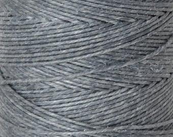 Tools & Supplies-4-Ply Irish Linen Cord-Waxed-Slate Grey-Quantity 10 Yards
