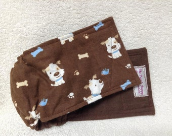 Male Dog Diaper Belly Band  Pet Wrap  Doggie Britches Cotton  Flannel Pants  Fuzzy Whimiscal Dogs Size To 30""