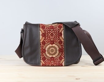 Flame Scrolls Leather Camera Bag Satchel DSLR - PRE-ORDER