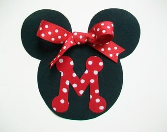 DIY No-Sew Minnie Mouse Applique with Number - Iron On