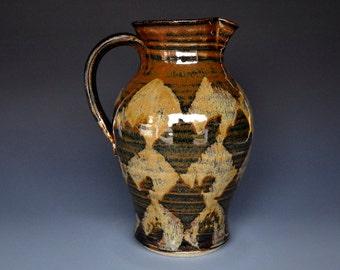Stoneware Ceramic Pitcher Handmade Pottery Jug A