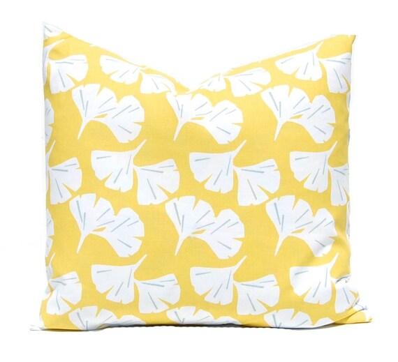 Yellow Pillow Cover Sofa Pillows Gingko by CompanyTwentySix : il570xN10451957914bxz from www.etsy.com size 570 x 519 jpeg 49kB
