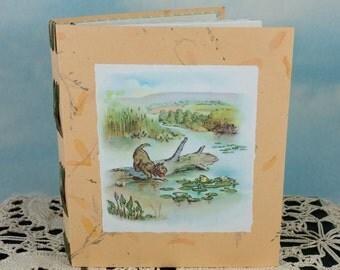 Alexander the Gander Puppy Dog on Peach Memory Journal with 1943 Children's Book Illustration