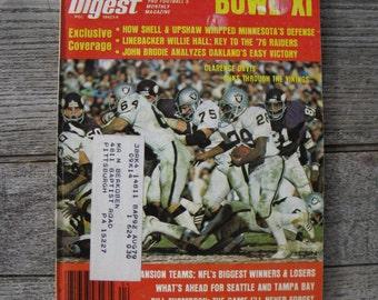 football digest april 1977 super bowl XI 1970s football man cave collectible