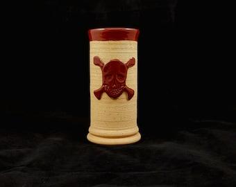 Stoneware Skull and Cross Bones Cup