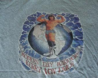 Vintage 80's Kerry Von Erich World Class Championship Wrestling T Shirt M