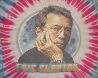 Vintage 90's Eric Clapton ty dy tye dye cream the yardbirds guitar legend Tour T shirt L