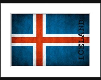 Iceland Flag - Print Poster -