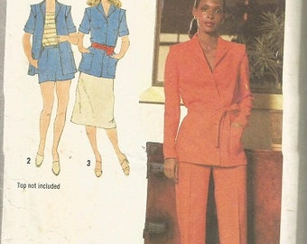 Vintage Simplicity 9067 Misses Skirt, Shorts, Pants, and Jacket Pattern SZ 14
