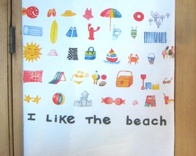 I Like the Beach Kitchen Towel