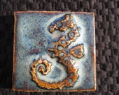 Ceramic Relief SEAHORSE TILE - any one color