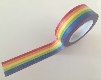 Washi tape - Rainbow Stripes - 15mm Wide - 10meters  WT770