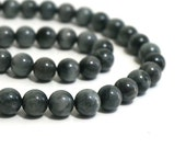 10mm Chrysoberyl Cat's Eye Beads, round natural grey gemstone, Hawks Eye, Eagles Eye Jasper, Full & Half strands available (1205R)