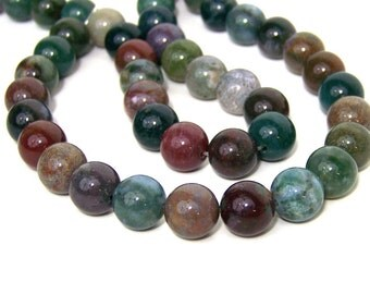 Fancy Jasper beads, 12mm round natural gemstone, full & half strands available  (562S)