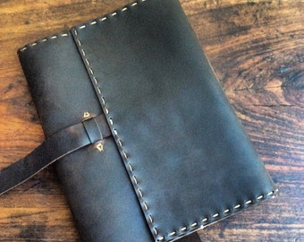 Ovington Journal / Leather Journal / Leather iPad case / Notebook / Composition Book / Refillable Journal / Husband Gift / Handmade Leather