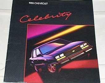 Rare vintage 1985 Chevy Celebrity car showroom catalog: 1980's Chevrolet Coupe/Wagon/automobile/cars Chevy catalog