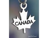 Canada Charm Sterling Silver Canadian Maple Leaf Symbol Solid .925