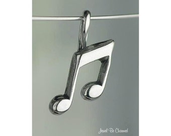 Sterling Silver Eighth Note Small Music Notes CHARM or PENDANT .925