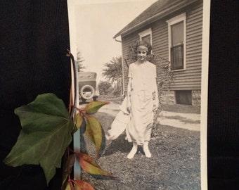 Antique Photo of Flapper 1920's Girl -  Gatsby era - Vernacular Photo - Vintage Photo