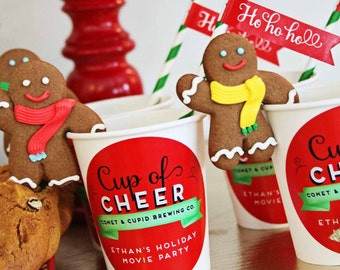 St. Nick Cinema Collection Cup of Cheer Stickers by Loralee Lewis