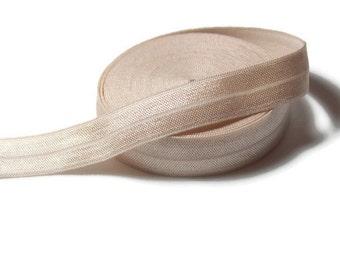"Champagne 5/8"" Fold Over Elastic - Wholesale Fold Over Elastic - Elastic for Headbands - 5 yards"