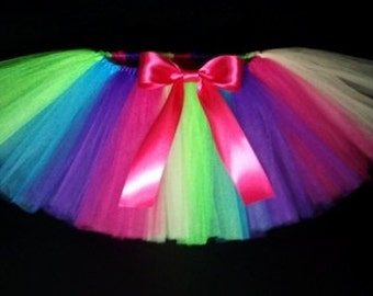 Rainbow tutu- Baby Tutu- Colorful Tutu- Infant Tutu- Tutu- Tutu Skirt- Toddler Tutu- Newborn Tutu- Available In Size; 2T-6