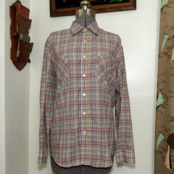 Mens Vintage 80s Button Down Shirt The By Beatificvintage