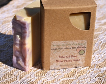 Olive Oil Soap, Napa Valley Wine, made with organic oils and phthalate free fragrance oils, FREE SHIPPING, by greenbubblegorgeous