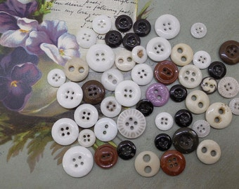 Lot of 50 Mixed Antique China Buttons