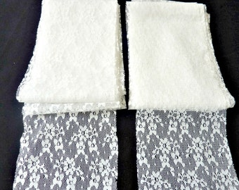 Wide White Lace Trim 1980s Vintage Over 10 Yards