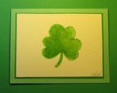 "ST. PATRICK'S DAY Card, Original Handmade Watercolor (""Happy St. Patrick's Day"" Inside)"