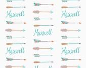Personalized Arrow Baby Blanket - Exclusive Design - Toddler Blanket