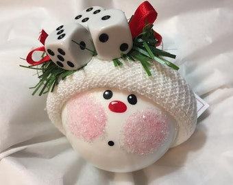 Bunco Ornament Christmas Townsend Custom Gifts Dice Die